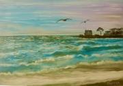 "tableau marine batzsurmer plage valentin loire atlantique paysage marin : ""La Plage Valentin"""