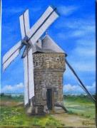 "tableau paysages batzsurmer moulin de batz loire atlantique presqu ile du ,c : ""Moulin de Batz"""