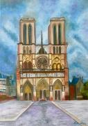 """tableau architecture notre dame de paris paris monument eglise : """"Chère Notre Dame"""", Paris"""