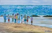 """tableau marine mer peches epuisettes enfants : """"Les épuisettes"""""""