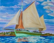 "tableau marine bretagne morbihan bateau vieux grements : ""Wonderful breizh"""