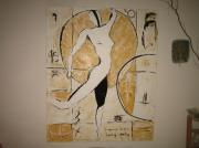 tableau personnages strasbourg peinture acrylique danseuse : la danseuse