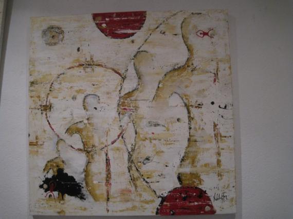 TABLEAU PEINTURE strasbourg peinture acrylique les brumes Personnages Acrylique  - les brumes