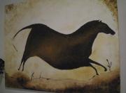tableau animaux peinture strasbourg cheval rupestre : cheval rupestre