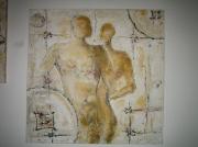 tableau personnages strasbourg peinture acrylique paternite : paternité