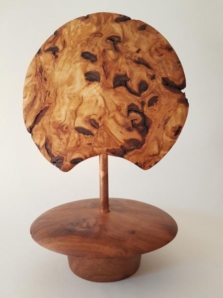 BOIS, MARQUETERIE bois tourné wood déco wood  - Lune Changeante