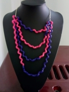 bijoux autres coquillettes rose violet chaine : collier coquillettes