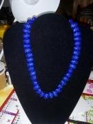 bijoux autres pate bleu paillettes : collier bleu paillettes