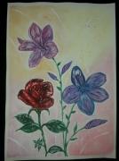 tableau fleurs rose magnolia fleur printemps : Douceur parfumé