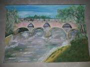 tableau architecture fleuve pont paysage garonne : Le Pont de Tonneins
