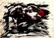 tableau sport tyson boxe punch sport : Tyson Time