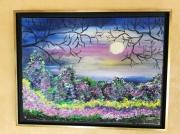 tableau paysages clair de lune paysage encadre figuratif : CLAIR DE LUNE