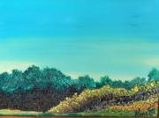 tableau paysages horizon arbres figuratif paysage encadre : horizon  arbres
