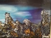 tableau paysages contrastes aube paysage encadre figuratif : contrastes aube