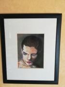 tableau personnages pastel encadre travesti apres le spectacle personnage : pastel: travesti aprés le spectacle