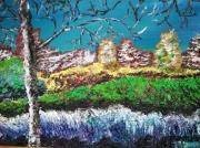 tableau paysages branchage dans le ciel paysage encadre figuratif : BRANCHAGE DANS LE CIEL