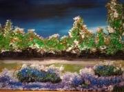 tableau paysages bordure de chemin paysage encadre figuratif : BORDURE DE CHEMIN