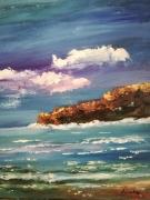 tableau paysages mer calme figuratif encadre paysage mer : mer calme