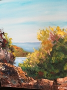 tableau paysages corniche baleares paysage encadre mer : corniche  baléares