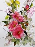 tableau fleurs aquarelle sumie abby fleurs : Aquafeutre 28