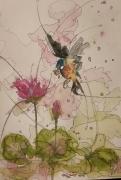 tableau animaux aquarelle sumie abby oiseau : Naturel 4