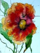 tableau fleurs aquarelle abby fleurs watercolor : Aquafeutre6