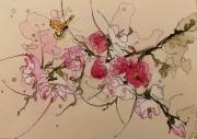 tableau fleurs aquarelle sumie abby fleurs : Naturel 5
