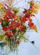tableau fleurs aquarelle abby fleurs watercolor : Aquafeutre 24