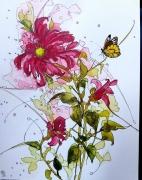 tableau fleurs aquarelle sumie abby fleurs : Aquafeutre 23