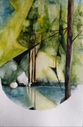 tableau paysages aquarelle abstrait abby watercolor : Abstration 1