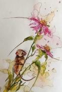 tableau animaux aquarelle sumie abby fleurs : Naturel 3