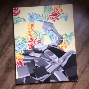 tableau personnages homme livres motifs imaginaire : Imaginaire