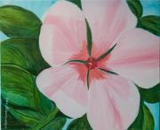 painting fleurs fleurs flowers flores plantes : La Petit fleur de mon jardin