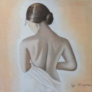 painting nus femme nue chignon : La fille au Chignon