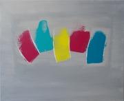 tableau abstrait couleur abstrait gris : Winter Rainbow