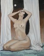 painting nus femme nue : Le Regret