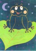 tableau animaux grenouille animaux enfants cadeaux : Nuit câline...