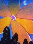 tableau paysages paysage ville enfants reve : Les rêves des enfants sages sont des fleurs...