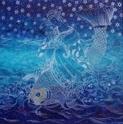 tableau marine japon diaries mythologie : Néréide I