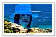tableau marine mer capri femme colline : CAPRI MARINA 3