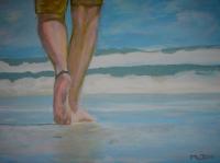 Le randonneur de la plage