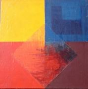 tableau abstrait couleurs carre : Variation sur le carré
