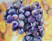 tableau nature morte nature morte raisin fruits : La Grappe de raisin