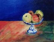 tableau nature morte fruits : Pom-Pom-Pom-Pom