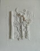 tableau abstrait collageacryliqueblanc : White is white