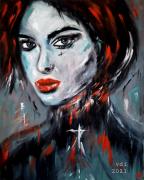 tableau personnages femme portrait visage : Femme 6