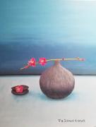 tableau fleurs fleurs vase galets : Galets 3