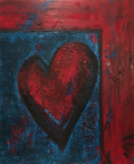 tableau abstrait : Coeur