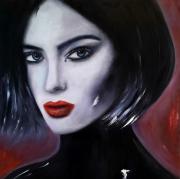 tableau personnages femme portrait visage : Femme 5