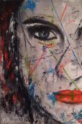 tableau personnages portrait femme visage : Femme 4